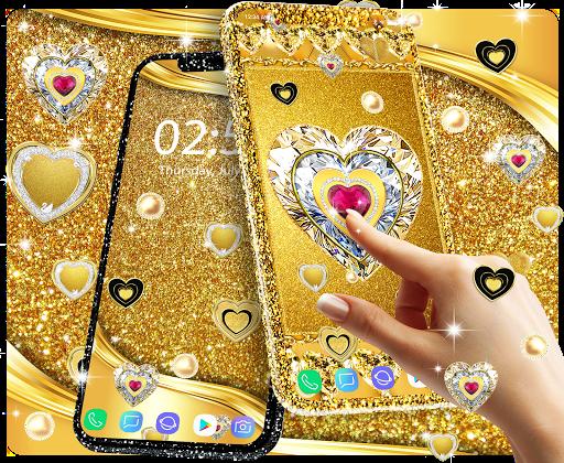 Gold live wallpaper 2020 android2mod screenshots 1