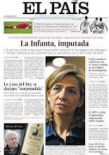 """Photo: El juez imputa a la Infanta Cristina, la Casa del Rey se declara """"sorprendida"""" y el BBVA enfría el optimismo empresarial sobre España, en nuestra portada del jueves 4 de abril http://srv00.epimg.net/pdf/elpais/1aPagina/2013/04/ep-20130404.pdf"""