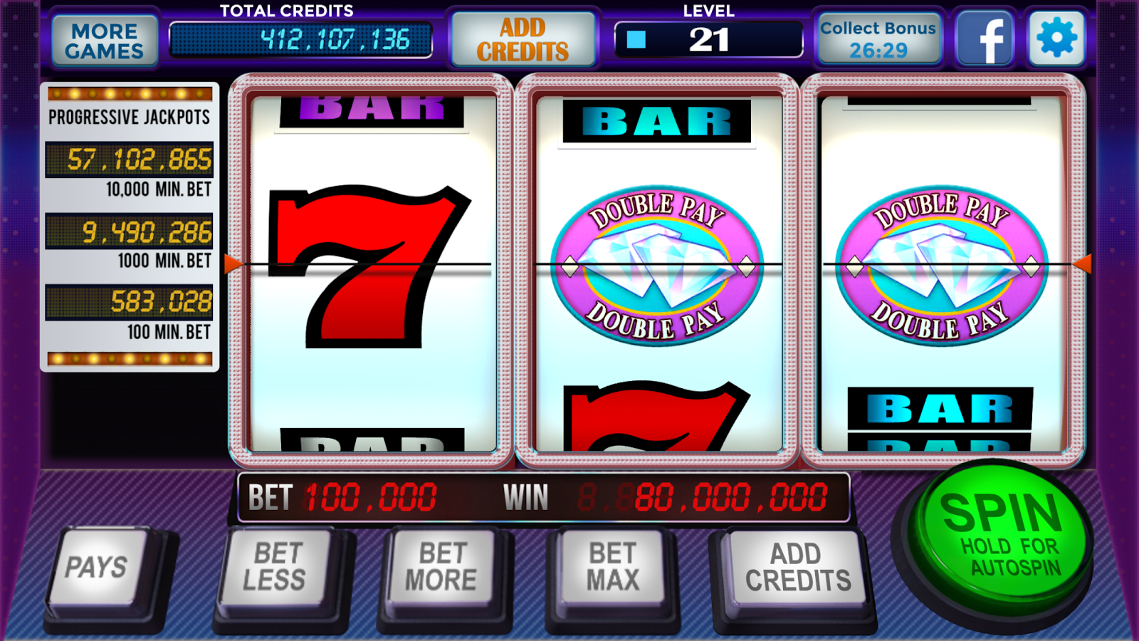 free vegas video slots