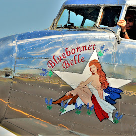 Rest in peace Girl by Benito Flores Jr - Transportation Airplanes ( c-47, air show, crashed, temple, texas, douglas, cargo plane )