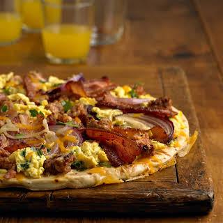 Breakfast Sausage Pizza.