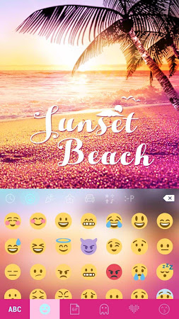 Sunset Beach Kika Keyboard 24.0 screenshot 1271845