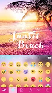 Sunset Beach Kika Keyboard 3
