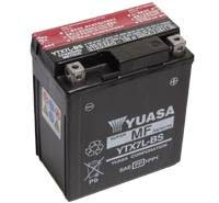 YUASA MC batteri YTX7L-BS LxBxH: 114x71x131mm