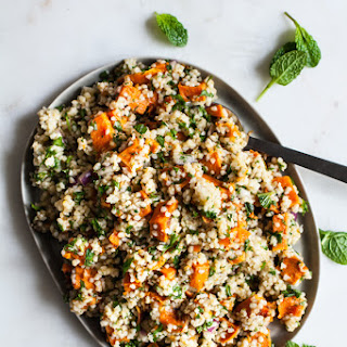 Sweet Potato Bulgur Citrus Salad.