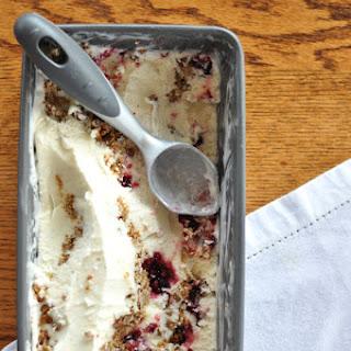 Vanilla Raspberry Crisp Ice Cream