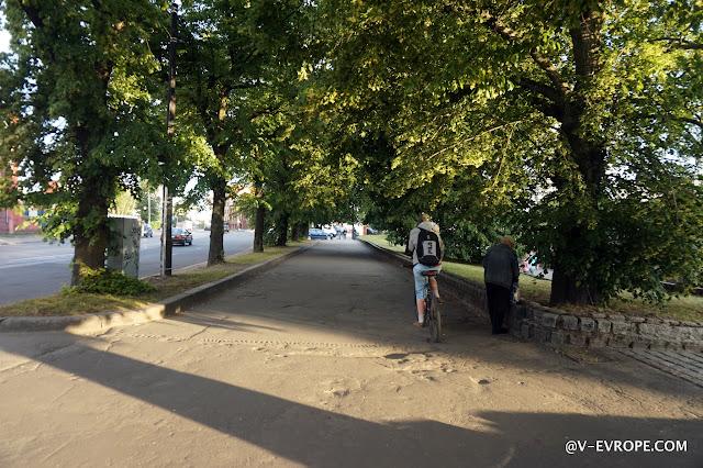 В Калининграде очень много велосипедистов
