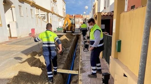 Codeur renueva la red abastecimiento de calle Pintor Rafael Zabaleta