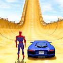 Superhero Mega Ramps: Crazy Car Stunt Races icon