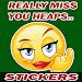 MISS U Stickers (+STICKER MAKER) icon