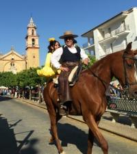May horse festival in Algodonales