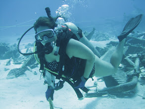Photo: Dr. Jennifer McKinnon (Ph.D. FSU Anthropology) diving near Guam - WW II military hardware in the background.  She is a faculty member at Dept. of Archaeology, Australasian Institute of Maritime Archaeology, Flinders University, Adelaide, South Australia.  http://www.flinders.edu.au/ehl/archaeology/postgrad-programs/by-coursework/in-maritime-archaeology.cfm
