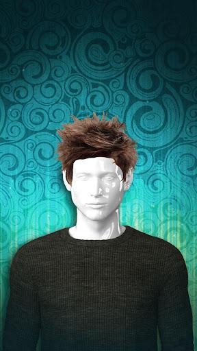 男人的髮型照片蒙太奇