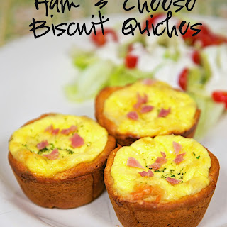 Ham & Cheese Biscuit Quiches