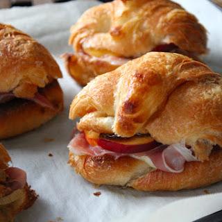 Prosciutto, Gruyère, and Peach Croissant Sandwiches