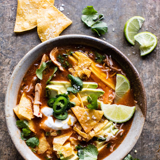 Crockpot Spicy Chicken Tortilla Soup.