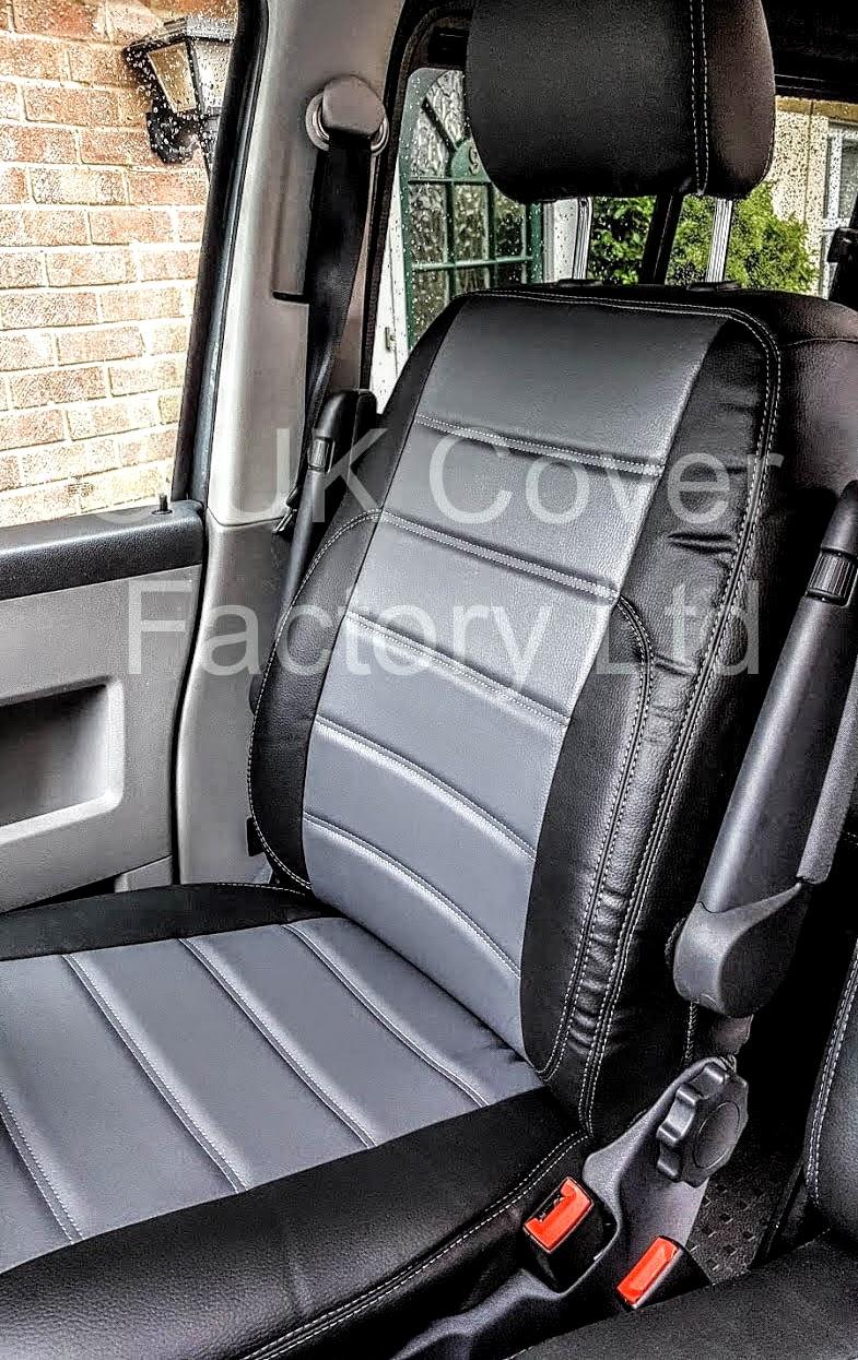 Van Seat Covers >> VW TRANSPORTER T5 KOMBI VAN 5 / 6 SEATER VAN SEAT COVERS GREY X120GYBK-GY | eBay
