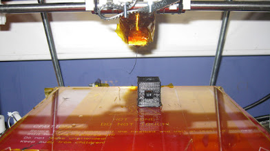 Photo: Hollow cube, print just finish.