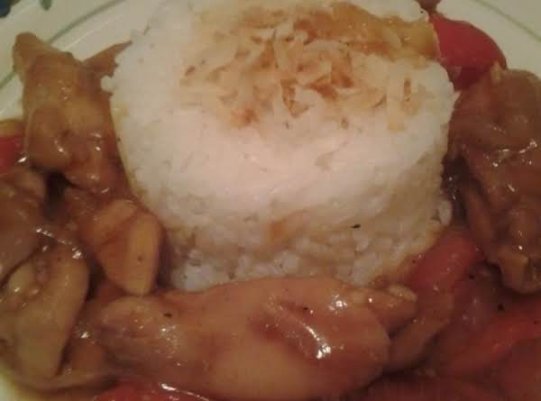 Coconut Rice With Sweet And Spicy Chicken