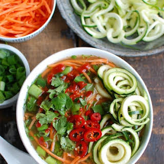 Spicy Asian Chicken Zoodle Soup.