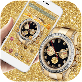 Gold Diamond HD Watch