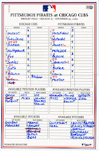 Photo: Lineup card to Charlie's 1st complete game shutout 9/30/09