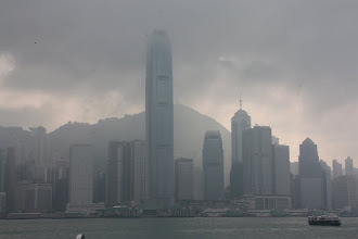 Photo: Day 194 -  A View of the Peak from Victoria  Harbour (Opposite HK Island)