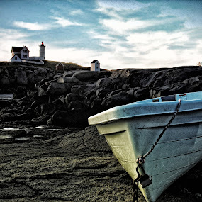 long beach by William Brothers - Landscapes Travel ( maine, lighthouse, york, fishing, boat )