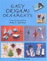 Photo: Easy Origami Ornaments Barbour Anita Jane Street Press 2004 paperback 120 pp 8.5 x 11 ins