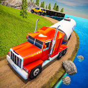 Gasoline Truck Cargo Transport: Downhill Off Road