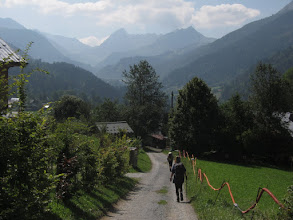 Photo: From the top we enjoy a pleasant walk downhill to Les Contamines, mostly on country roads.