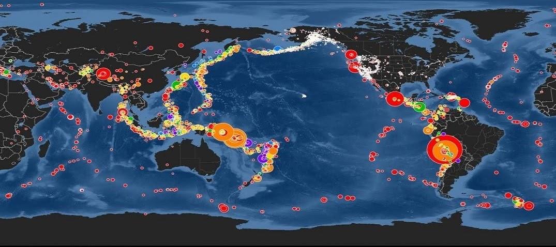 El anillo de fuego del pacifico y lugares con mas sismos