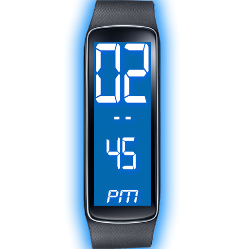 Gear Fit Blue LED Clock