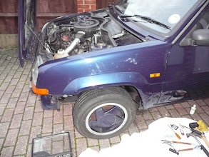 Photo: Renault 5 Gt Turbo Raider front wing fitted and wheel arch.
