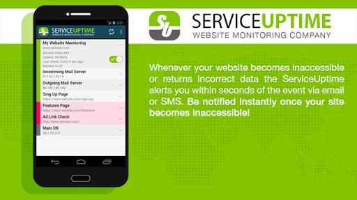 ServiceUptime app