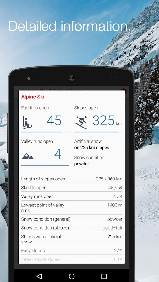Swiss Snow Report: screenshot
