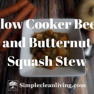 Slow Cooker Beef and Butternut Squash Stew.