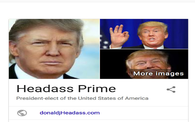 Trump to Headass Prime
