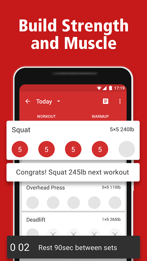 StrongLifts 5x5 Workout Gym Log & Personal Trainer- screenshot