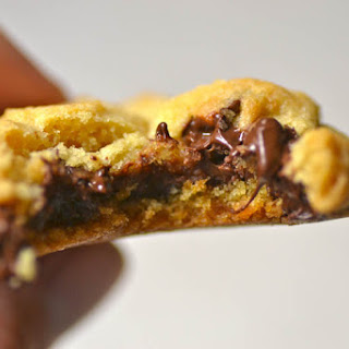 Nutella Stuffed Chocolate Chip Cookies with Sea Salt