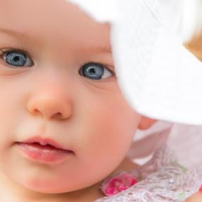 Hat by Todd Wallarab - Babies & Children Babies ( girl, blue, baby girl, baby, cute, pretty, hat, eyes )