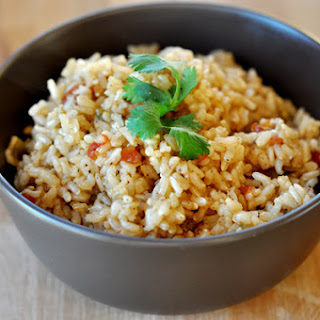 Baked Brown Spanish Rice.