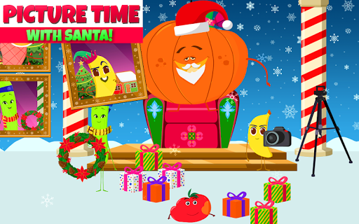 Christmas - Fruits Vs Veggies - Snow Game for Kids - screenshot