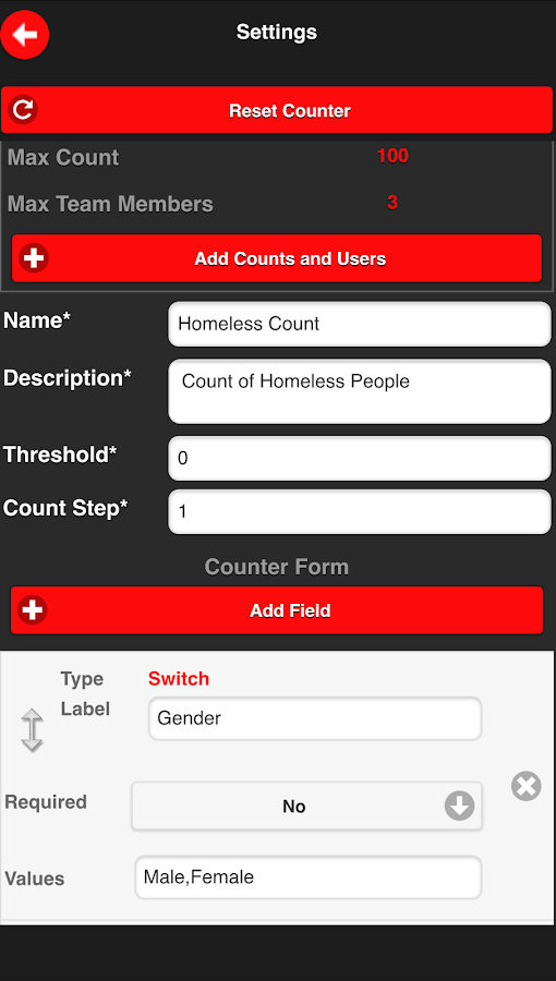 Countup-The Connected Counter- screenshot