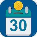Challenge 30 days Money saving. Save by playing icon