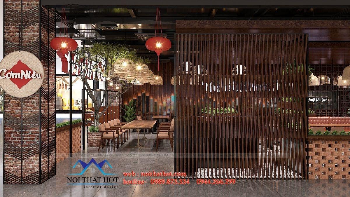thiết kế nhà hàng đẹp mắt