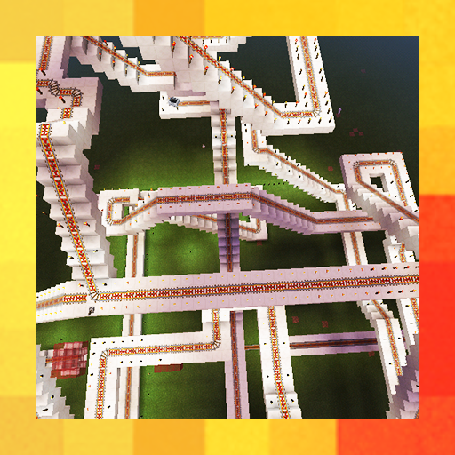 Incredible Roller Coaster World. Map for MCPE