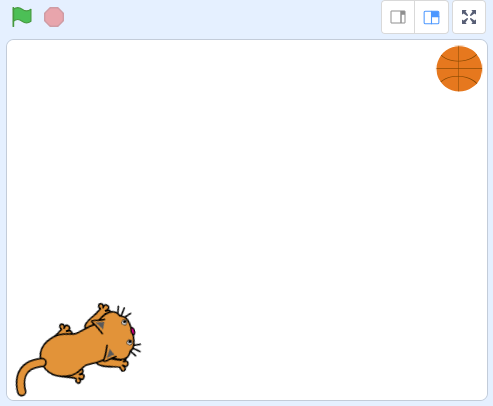 Scratch 3.0: Vị trí ban đầu của mèo và bóng