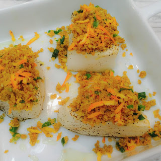 Chilean Sea Bass Recipe with Macadamia-Orange Crust.