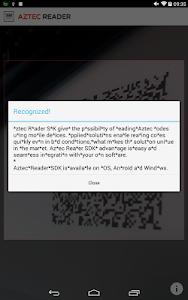Aztec Reader Demo screenshot 6